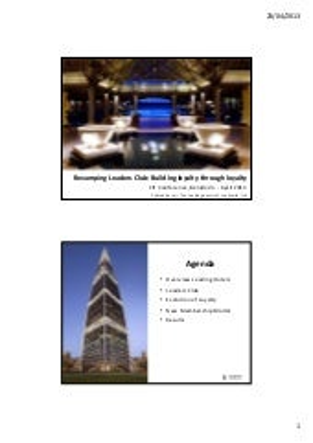 Accommodation, leisure & events management: Innovative success stories - Pablo Alcácer