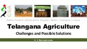 Telangana agriculture: Crisis and Possible Solutions