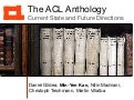 Daniel Gildea - 2018 - The ACL Anthology: Current State and Future Directions