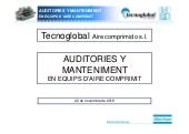 Auditories i manteniment en equips d'aire comprimit