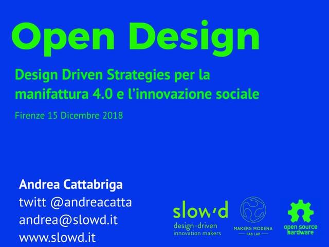 Open Design - Andrea Cattabriga