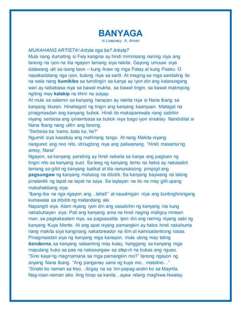 layunin ni liwayway arceo Pagsusuri sa aklat na ang mag-anak na cruz, koleksyon ng kwento na isinulat ni liwayway arceo librong katha na pumapaksa sa pagpapahalagang pilipino.
