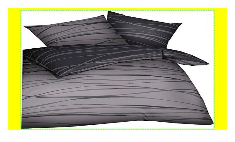 Kaeppel Mako Satin Wende-Bettwäsche Wellen Motion Schwarz Weiß