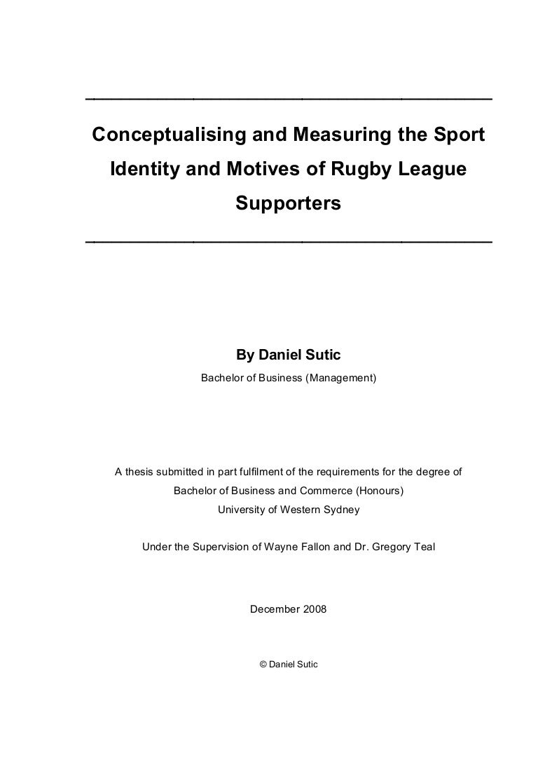 Conceptualising and measuring the sport identity and motives of rugby biocorpaavc Image collections