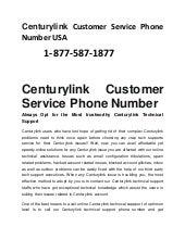 1 877 587 1877 centurylink customer service phone number usa