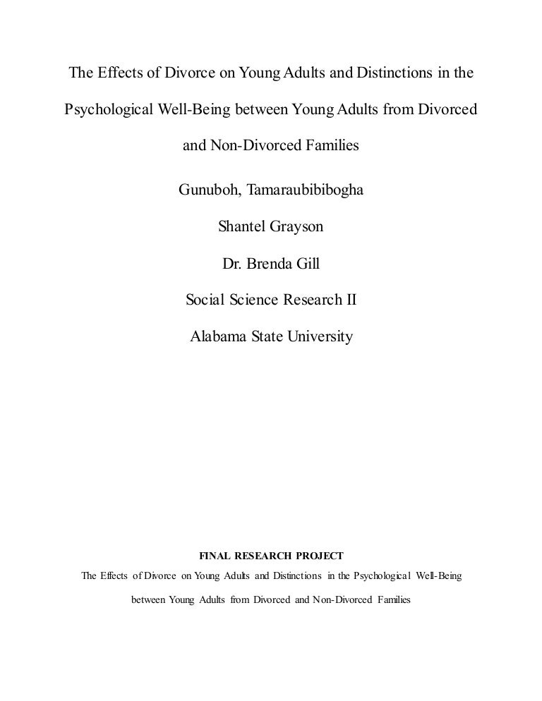 The effects of divorce on young adults and distinctions in their psyc solutioingenieria Image collections