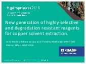 New generation of highly selective and degradation resistant reagents for copper solvent extraction