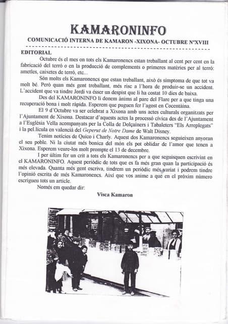 18 kamaroninfo núm. 18 oct 1997