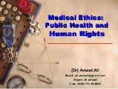 Medical Ethics: Public Health and Human Rights