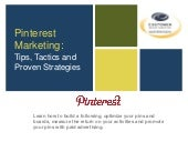 Pinterest Marketing: Tips, Tactics and Proven Strategies