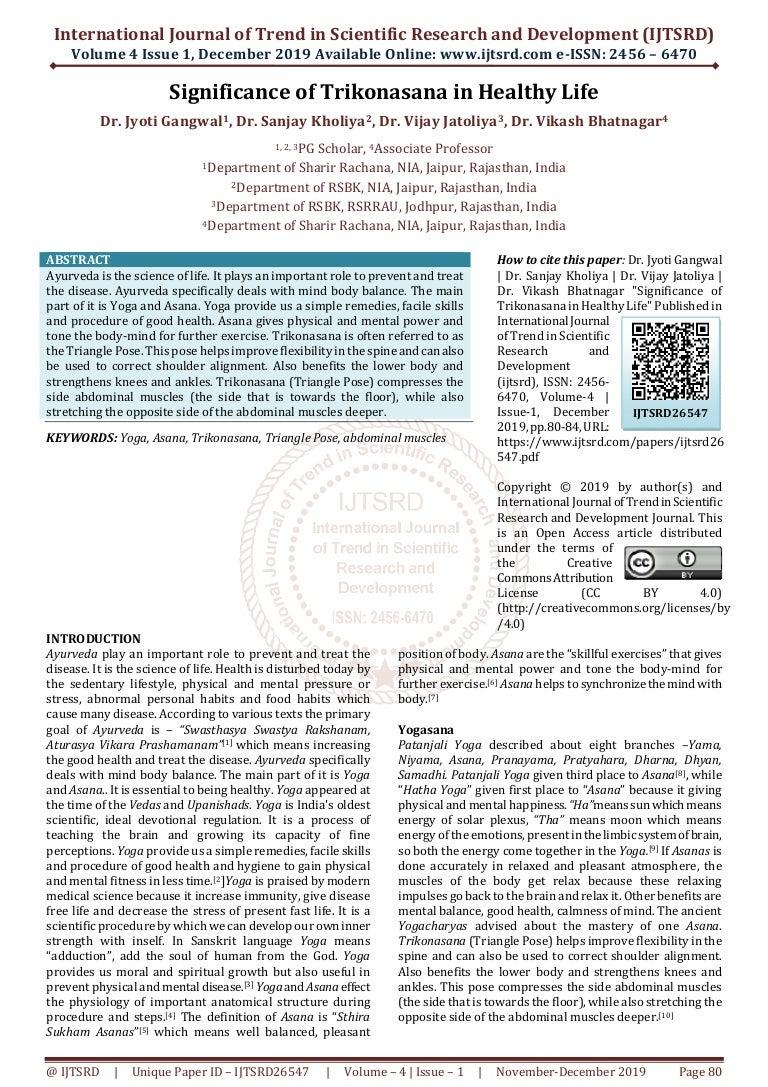 Significance Of Trikonasana In Healthy Life