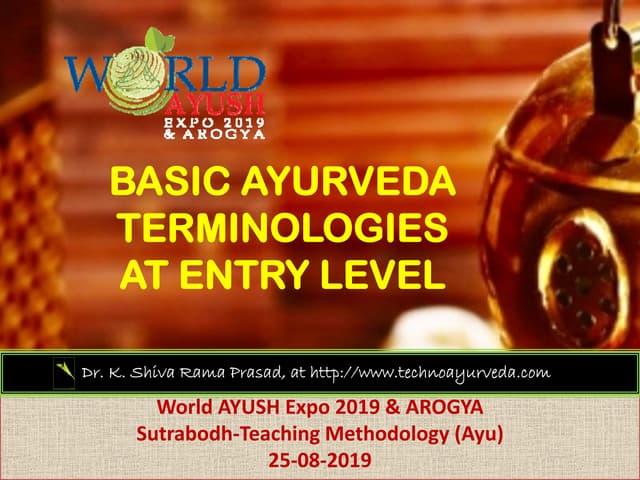 19 08-25 terminology ksr prasad