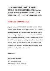 bmw r1100rt r1100rs r850 r1100gs r850 r1100r service repair manual 1994 2001 download