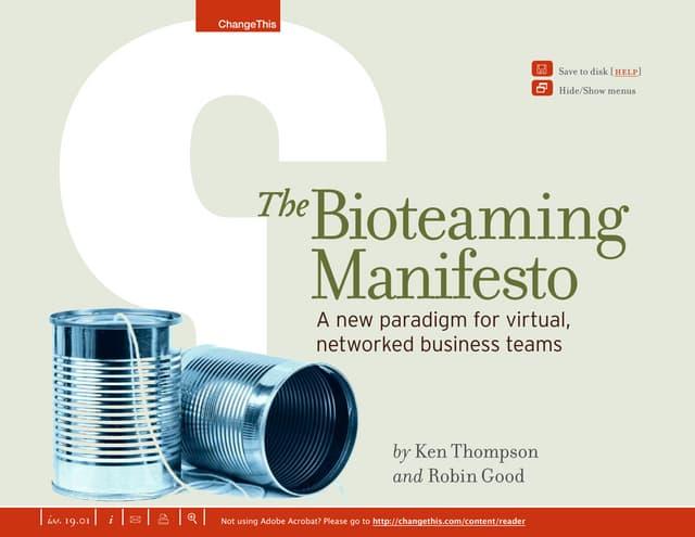 The Bioteaming Manifesto