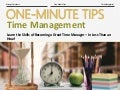 One-Minute Tips: Time Management