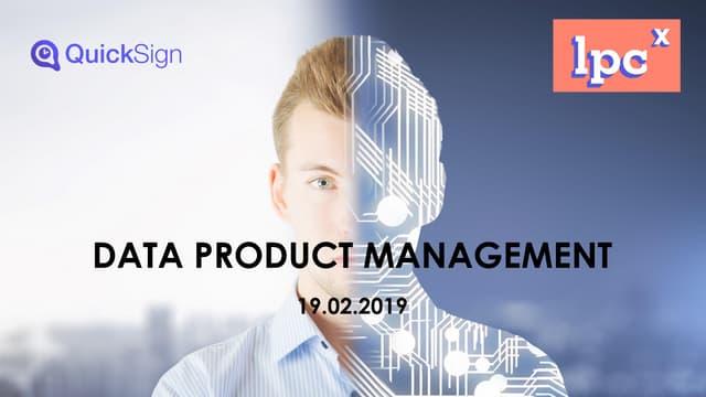 Best practice du Data Product Management