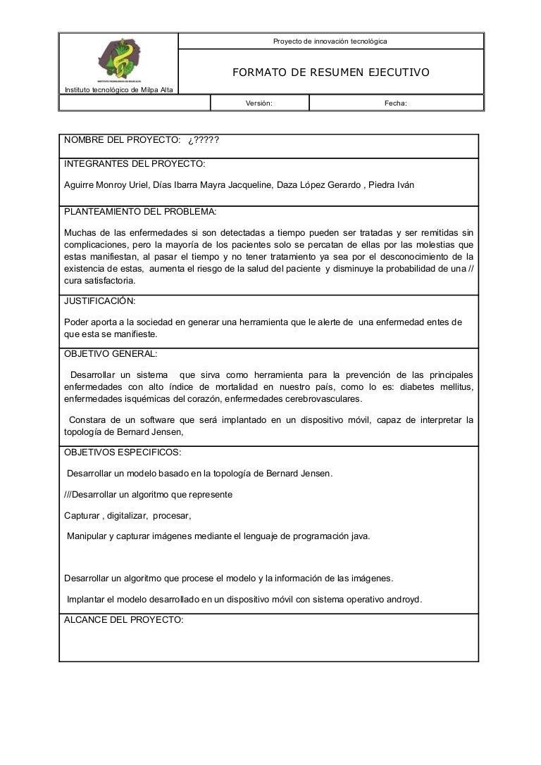 Contemporáneo Word Resumida Modelo - Ejemplo De Colección De ...