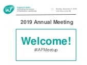 IAF England & Wales 2019 Annual Meeting