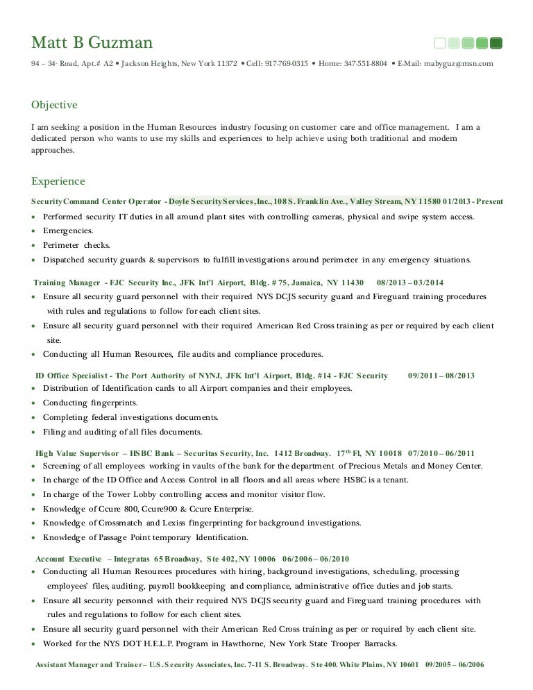 Resume & Cover Letter 2015 - HR