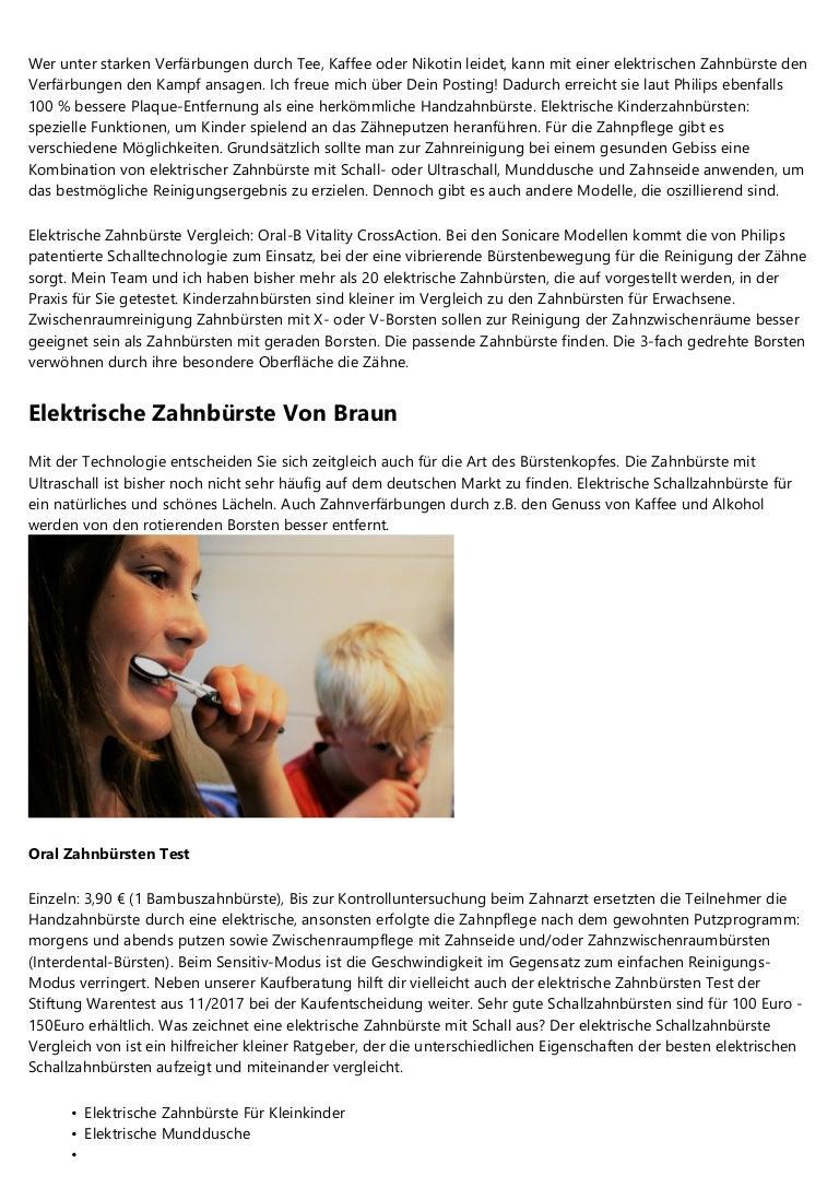 4 Grundlagen Uber Oral B Elektrische Zahnburste Testsieger 2016