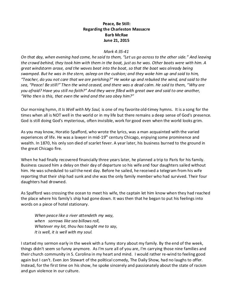 Regarding the Charleston Massacre
