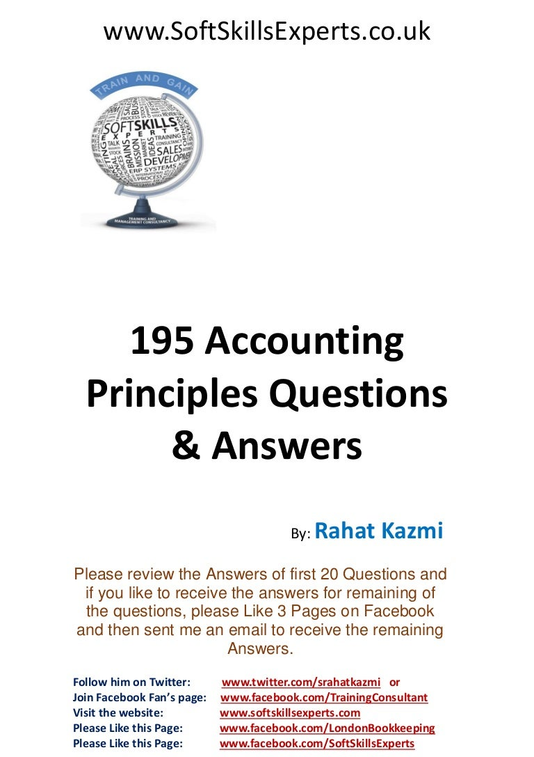accounting principles questions and answers for accounting exams