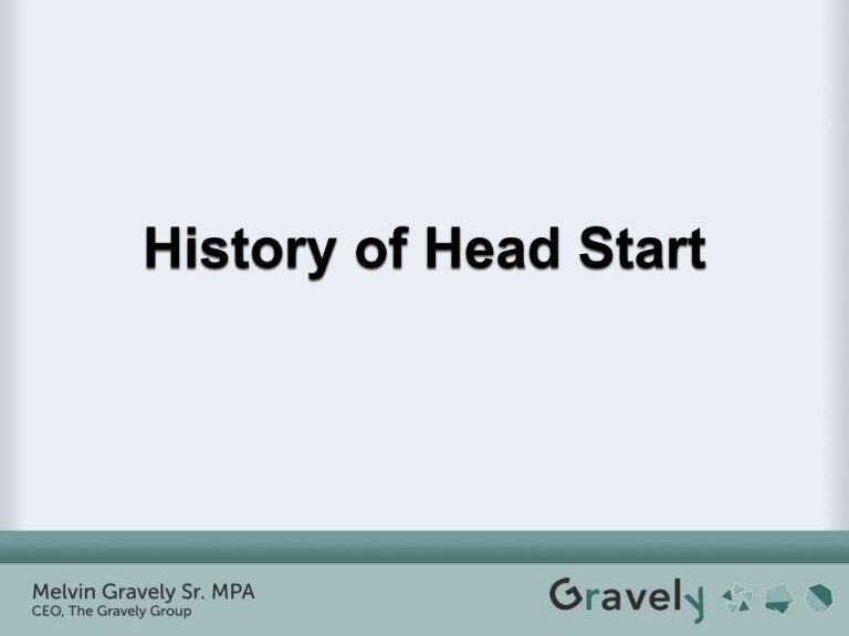 History of Head Start