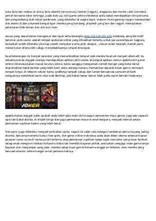 Slot Game Online Indonesia Bebas Terpercaya