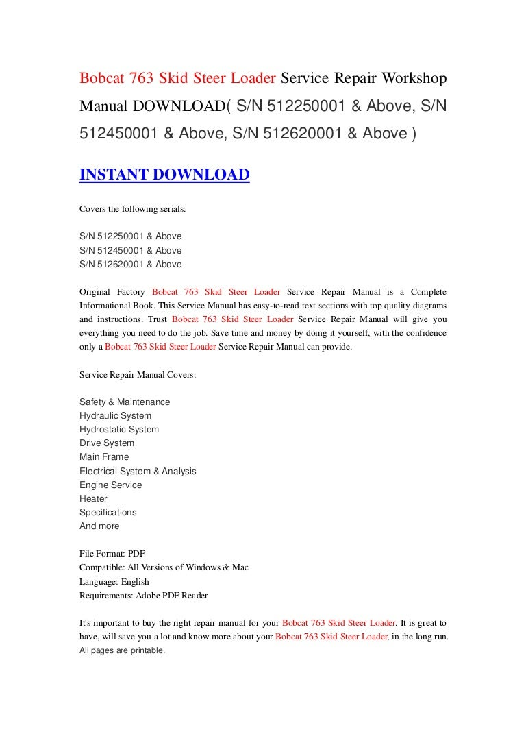 197850949 121215235436 phpapp01 thumbnail 4?cb=1355615716 bobcat 763 skid steer loader service repair workshop manual download( bobcat 763 wiring diagram free at eliteediting.co