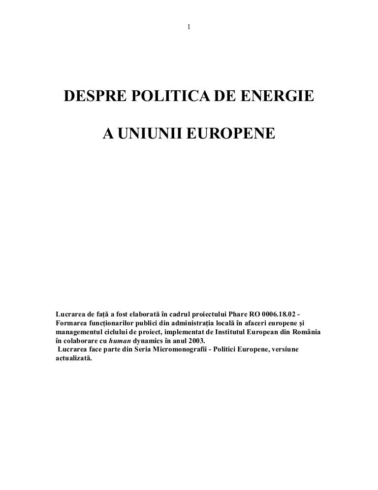 refacerea viziunii energetice)