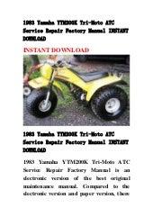 1984 Yamaha YT60L Tri-Zinger ATC Owners Manual