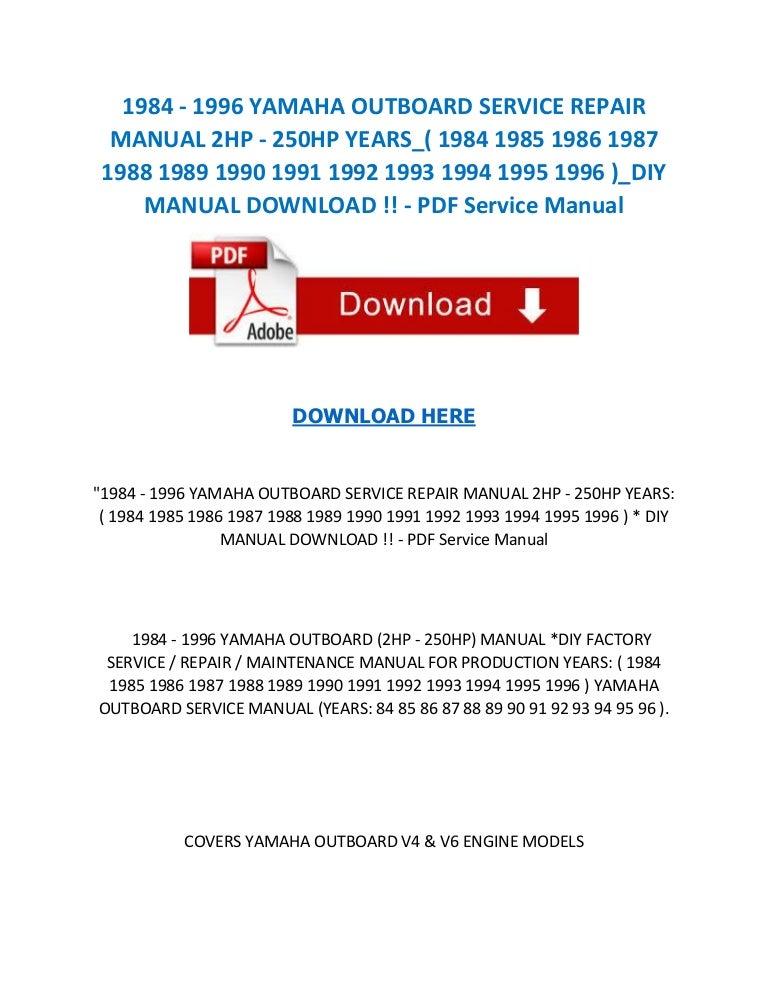 Yamaha 4Hp Outboard Manual - christmasfreesoft
