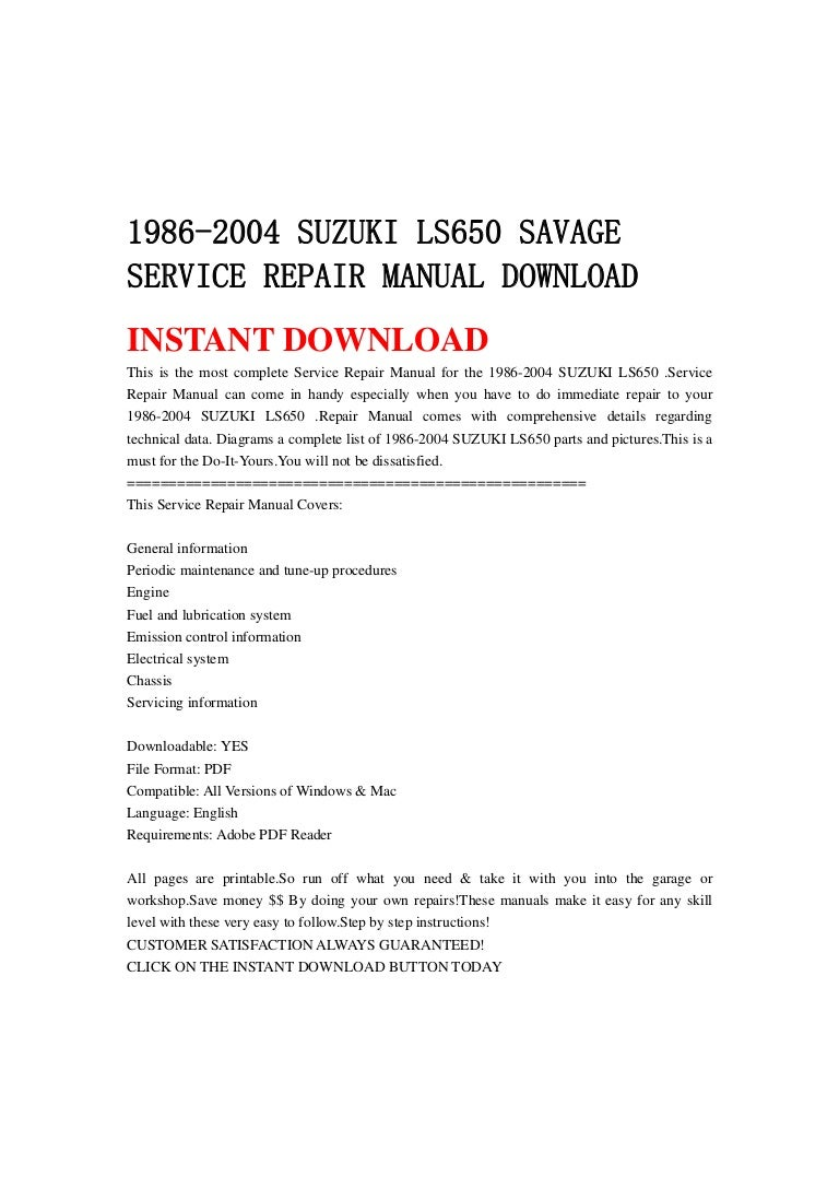 1986 Suzuki Savage 650 Wiring Diagram