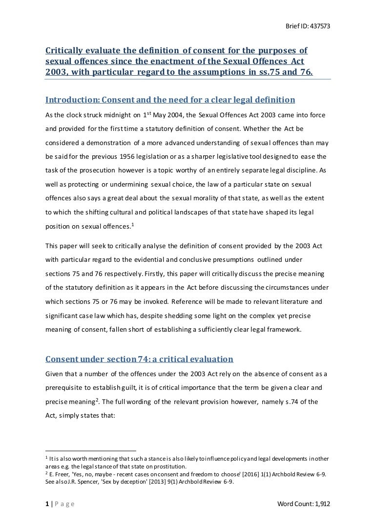 Free essay on consent in sex