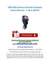 [SCHEMATICS_4NL]  1990-2001 Johnson Evinrude Outboard Service Manual - 1 HP to 300 HP   115 Hp Evinrude Wiring Diagram Free Download      SlideShare