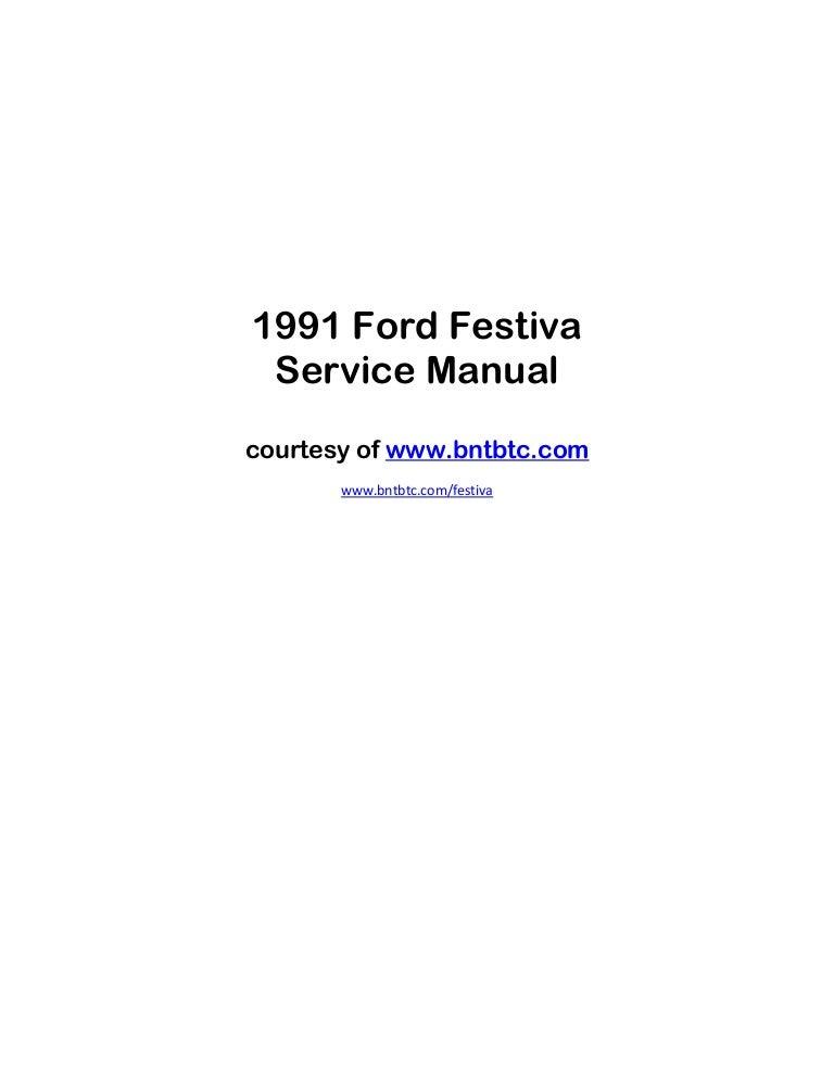 ignition wiring diagram for 1990 ford festiva 6 19 ferienwohnung1991 ford  festiva manual rh slideshare net