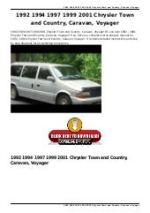 1991 1995 town and country service and repair manual