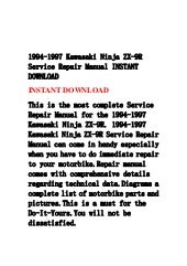 1994 1997 kawasaki ninja zx-9 r service repair manual