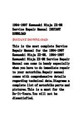 1994 1997 kawasaki ninja zx-9 r service repair manual
