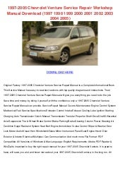 Chevrolet Venture Repair Manual 1997 2005