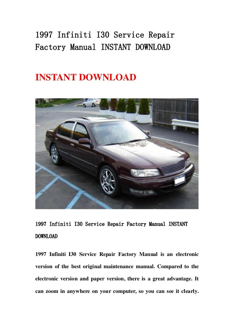 1997 Infiniti I30 Repair Manual 1996 Wiring Service Factory Instant Download Rh Slideshare Net 1991 Engine Layout