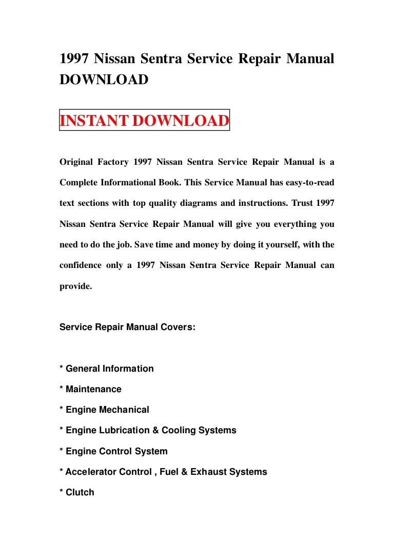 1997 Nissan Sentra Engine Diagram Service Repair Manual Download 1997sentra 130106095254 Phpapp02 Thumbnail 4cb1357466017