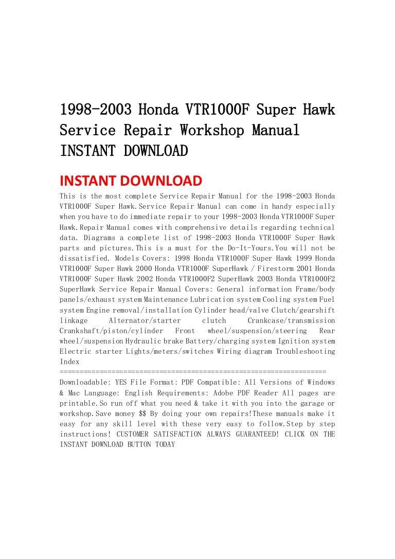 1998 2003hondavtr1000fsuperhawkservicerepairworkshopmanualinstantdownload 130430064644 phpapp02 thumbnail 4?cb=1367304442 honda vtr 1000 wiring diagram wiring library