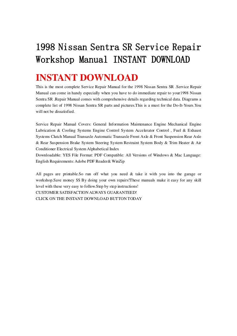 1262ffc 1998 Nissan Sentra Air Conditioner Wiring Diagram Wiring Resources