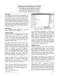 1999-UIST-Alternative interfaces for chat