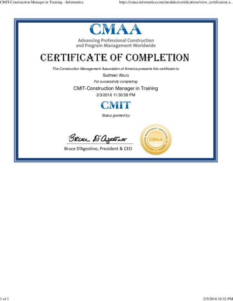 CMIT-Construction Manager in Training