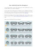How to Find the Perfect Pair of Sunglasses?