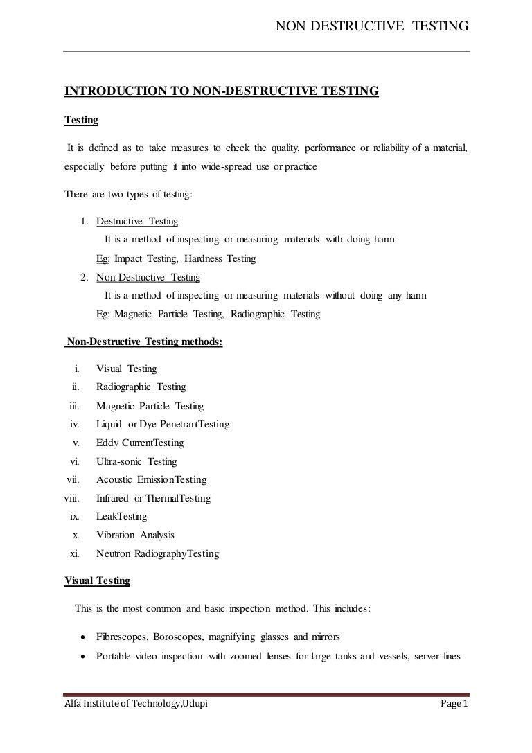Beautiful Nondestructive Tester Cover Letter Pictures - Printable ...