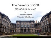 The Benefits of OER: What's in it for me?