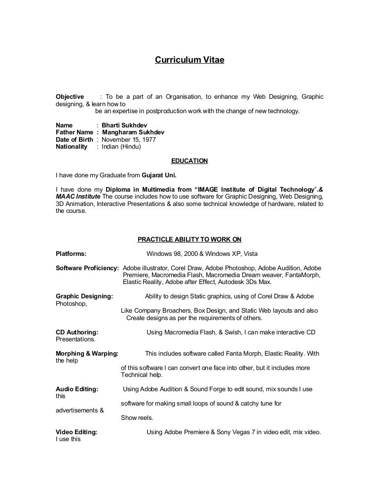 1 bharti sukhdev resume